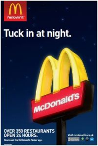 "McDonald's has successfully targeted a niche ""night owl"" market successfully via mobile"