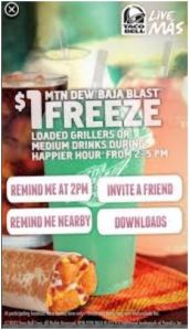 Taco Bells Happy Hour